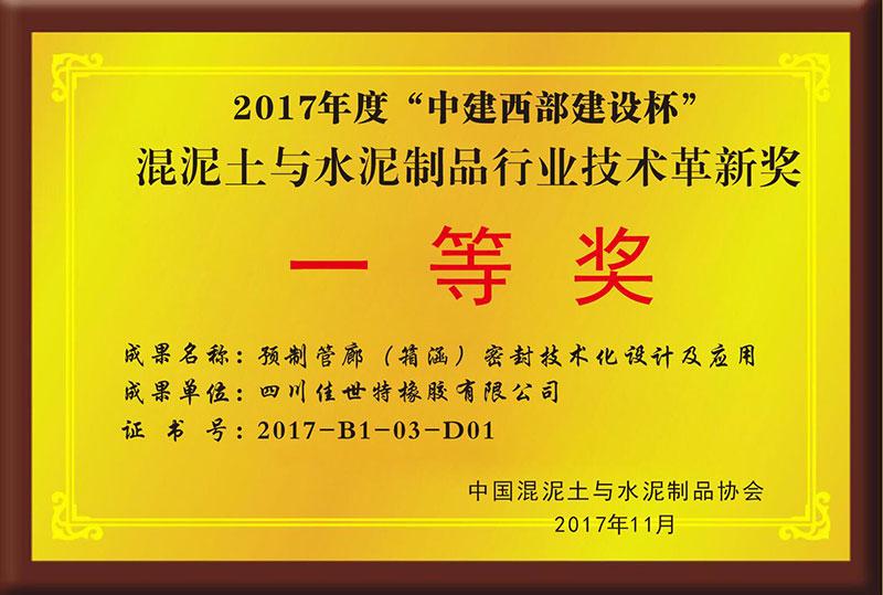 """2017年度""""中建西部建设""""技术革新一等奖"""
